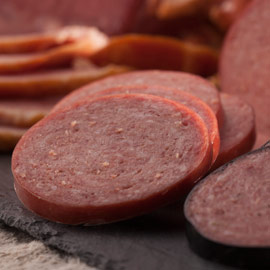 Light-Smoked Summer Sausage 14 oz. (Ride-Along Special $6.75)